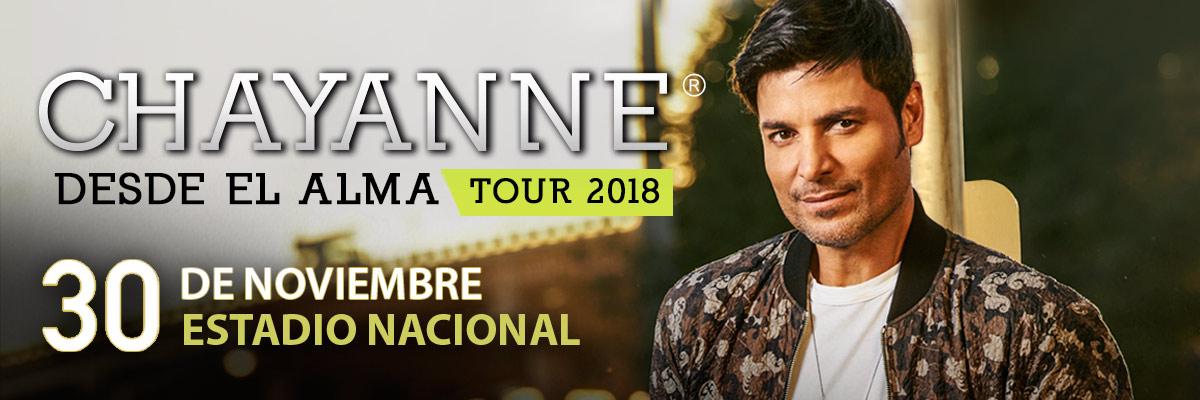 CHAYANNE - DESDE EL ALMA TOUR- GRADERIA SUR (NUEVA LOCALIDAD)