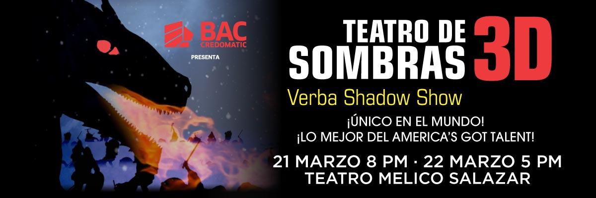 TEATRO DE SOMBRAS 3D- VERBA SHADOW SHOW